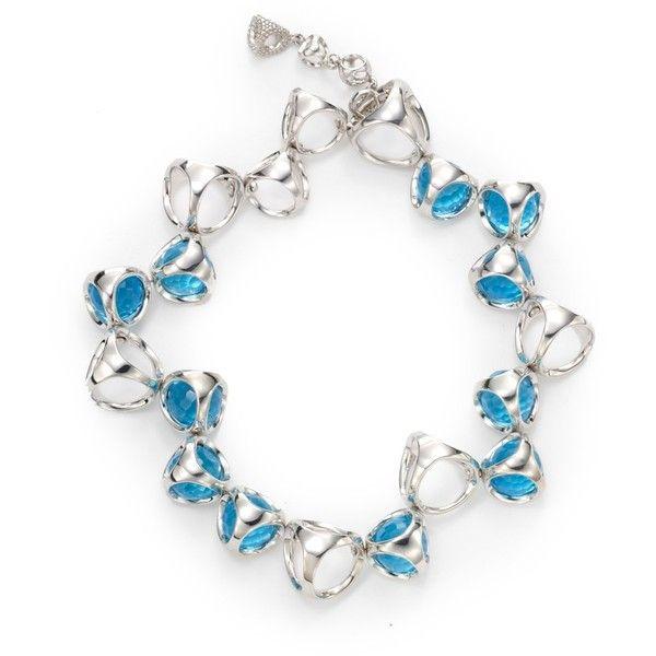 Di Modolo Blue Quartz Icon Bracelet silver  ($380) ❤ liked on Polyvore