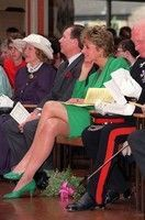 28 April 1992: The Official Opening of Riddings Community Centre by Princess Diana, on West Street, Riddings, Derbyshire.