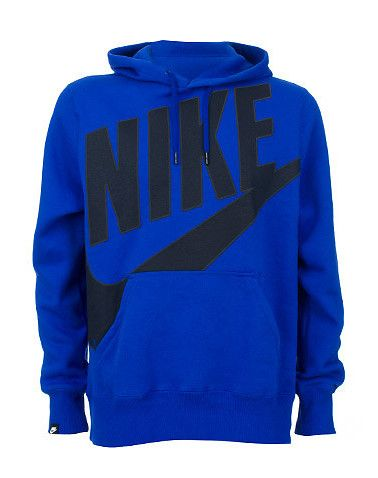 NIKE Fleece hoodie Raised screen print NIKE logo across front Long sleeves  Adjustable drawstring on hood