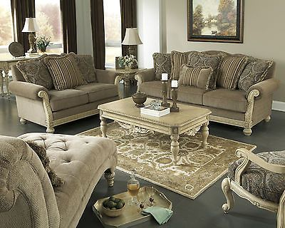 Traditional Sofa Loveseat Set Old World