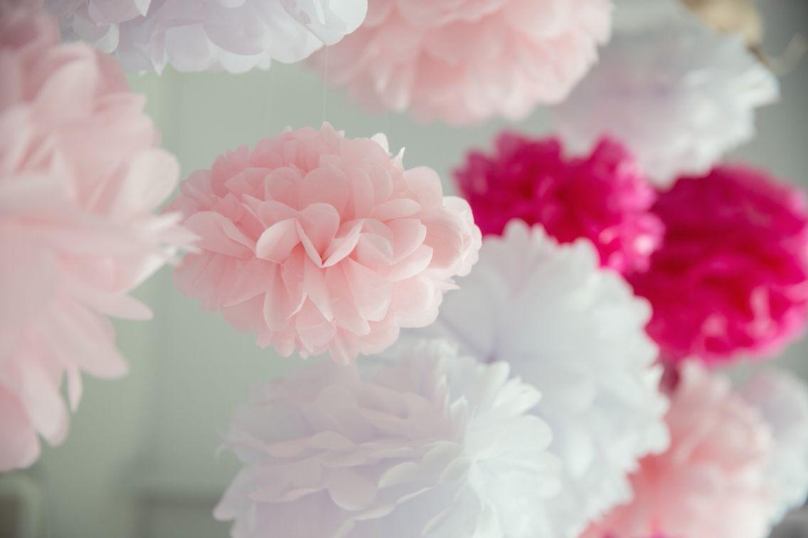 DIY tutorial - Pompoms, bruiloft decoratie
