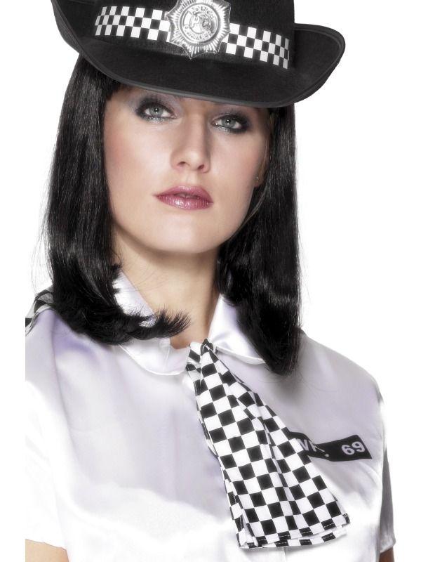 Policewoman/'s Hat Adult Womens Smiffys Fancy Dress Costume Hat