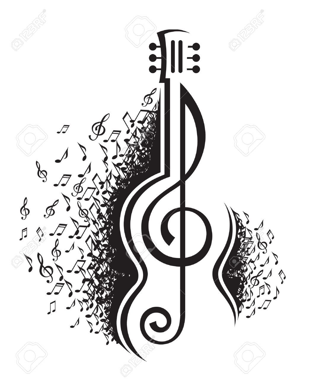 Image Result For Music Note Guitar Music Notes Art Music Notes Drawing Music Notes Tattoo