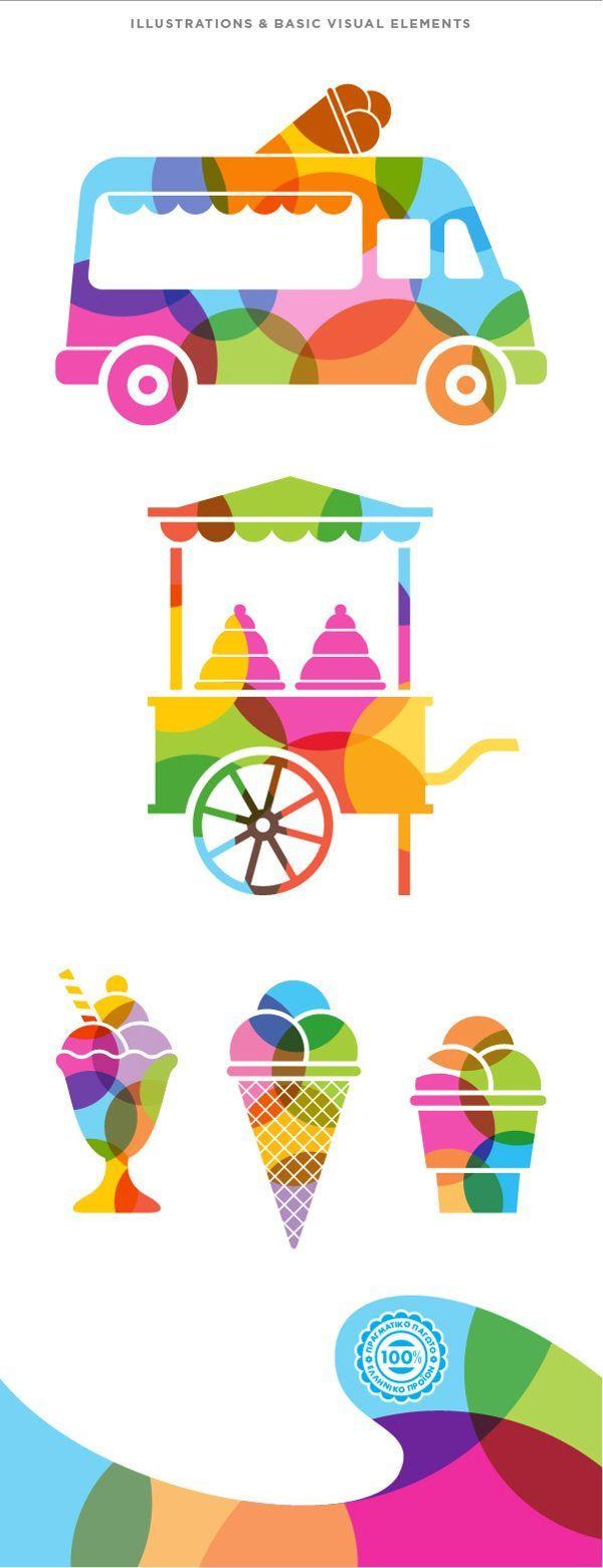 FINO ice cream by togetherdesign.gr , via Behance