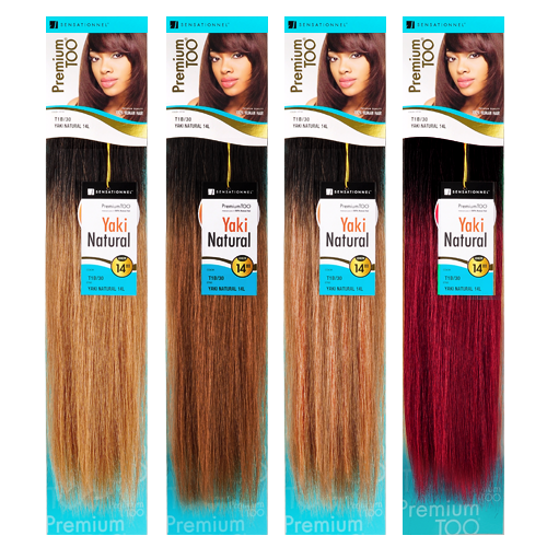 Sensationnel Human Hair Weave Premium Too Natural Yaki Two