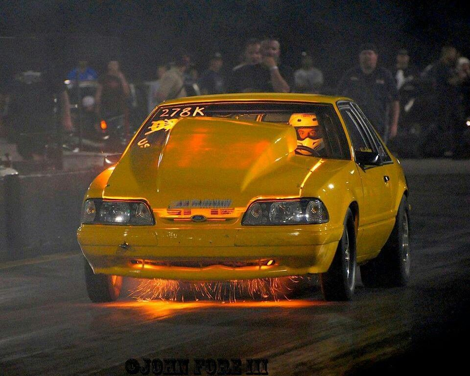 Fox Body Mustang With Unintentional Flames.