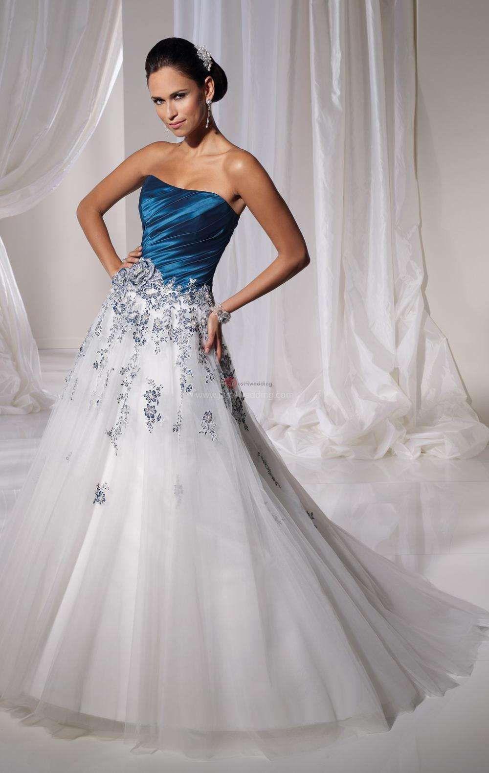 7dd8cb3e46 Ball Gown Wedding Dresses Blue. Ball Gown Wedding Dresses Blue. Colorful Royal  Blue Ball Gowns Wedding Dresses 2018 Custom Made Y