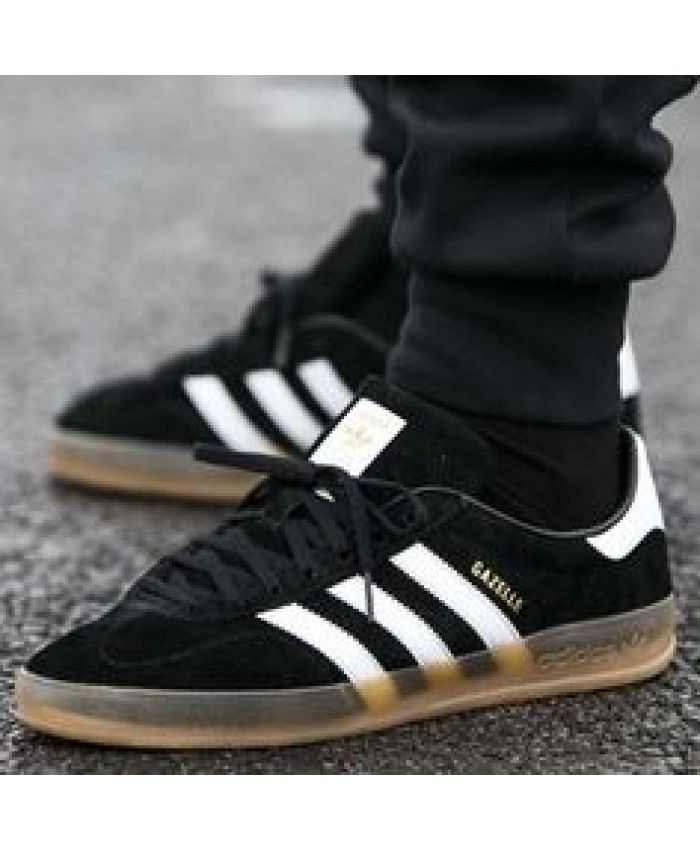 554a7cfbb14 Adidas Gazelle Gum Sole Black Trainers