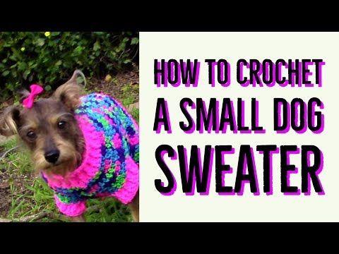 Sueter navideño para perro reciclado y tejido a crochet. - YouTube ...