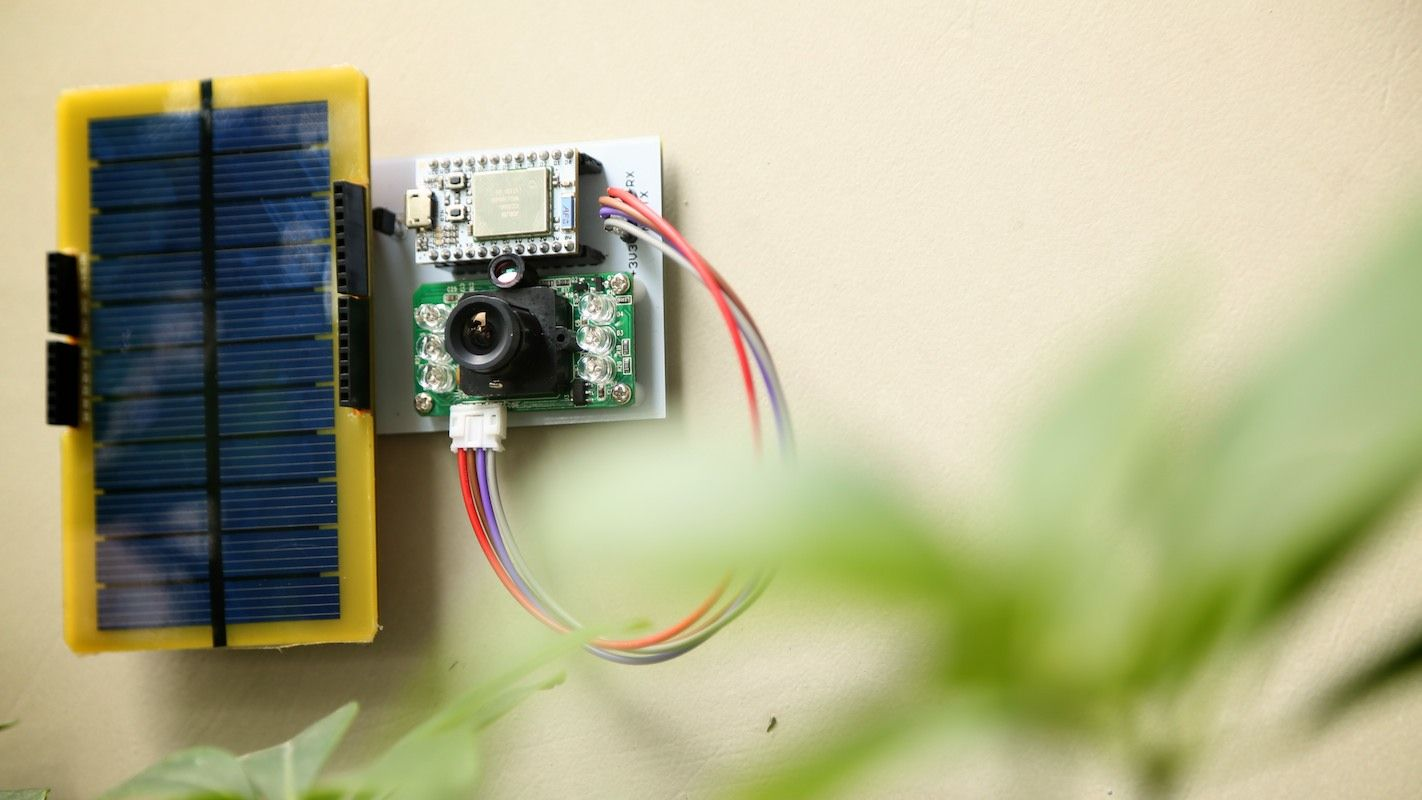 Solar powered security camera using spark core arduino