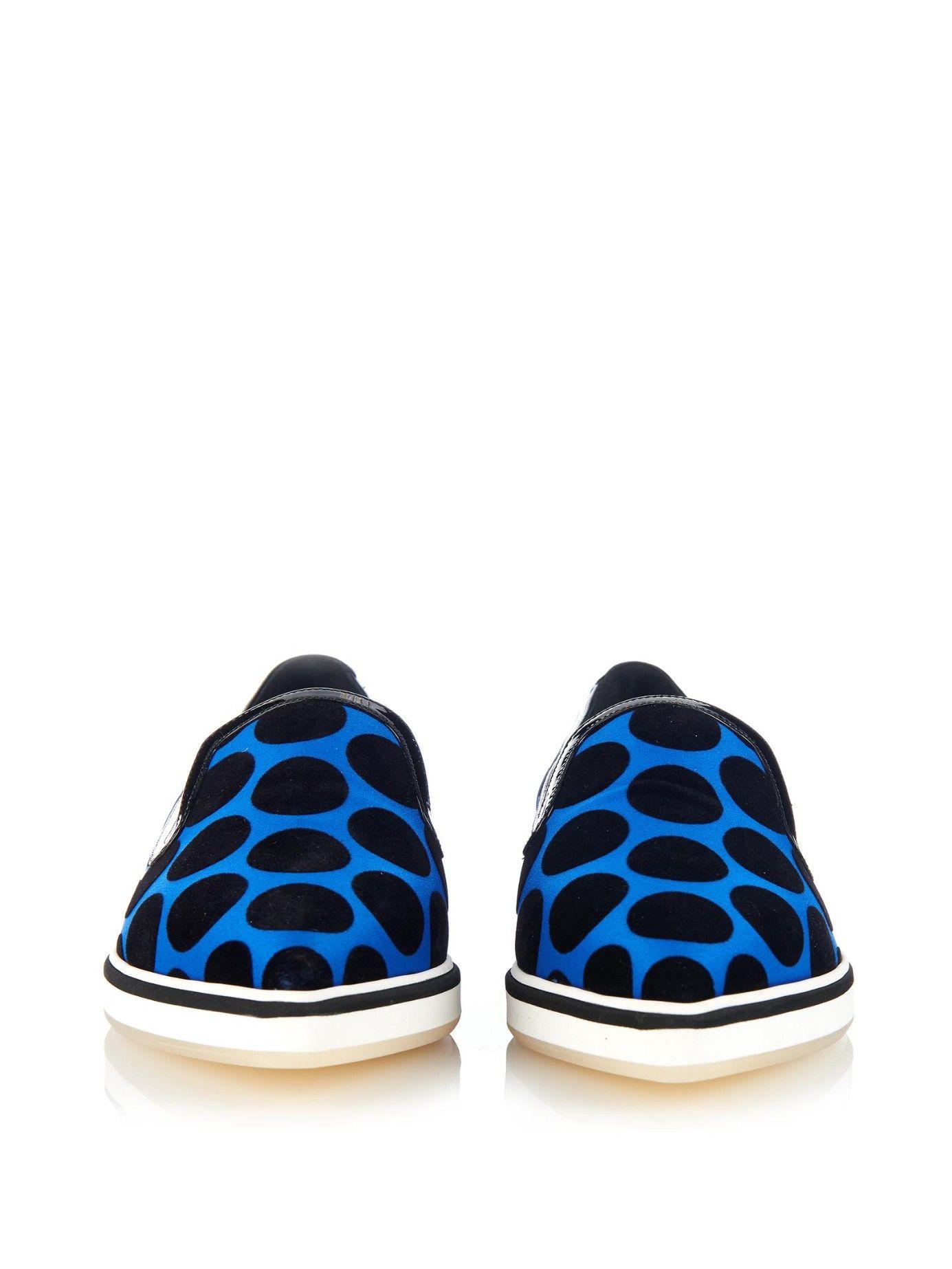 Nicholas Kirkwood Woman Flocked Satin Slip-on Sneakers Blue Size 39.5 Nicholas Kirkwood Buy Cheap Brand New Unisex Cheap Ebay Cheap Sale Very Cheap wRqlEIwyl