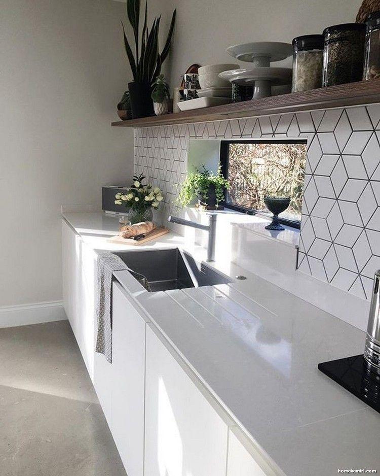 55 Stunning Geometric Backsplash Tile Kitchen Ideas Kitchen