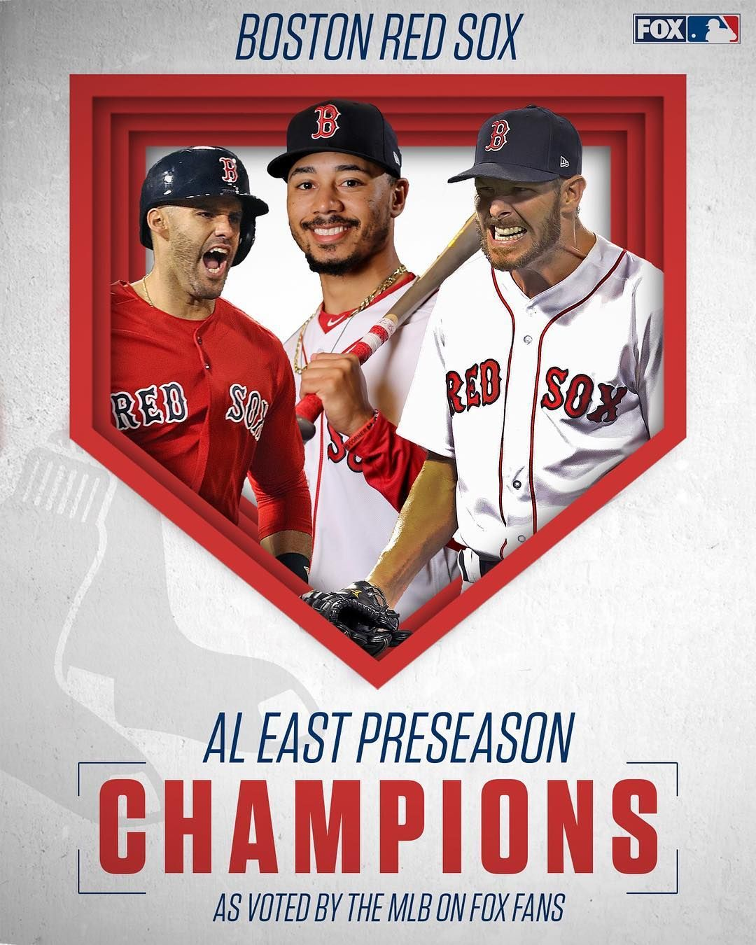 Mlb On Fox On Instagram The World Champion Boston Red Sox Will Win The Al East In 2019 As Voted On By The Mlb On Fox Fans Red Sox Boston Red