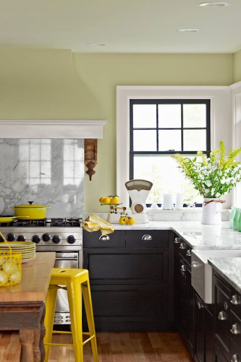 Go Green With These Beautiful Kitchen Cabinet Colors Green Kitchen Walls Green Kitchen Designs Beautiful Kitchen Cabinets