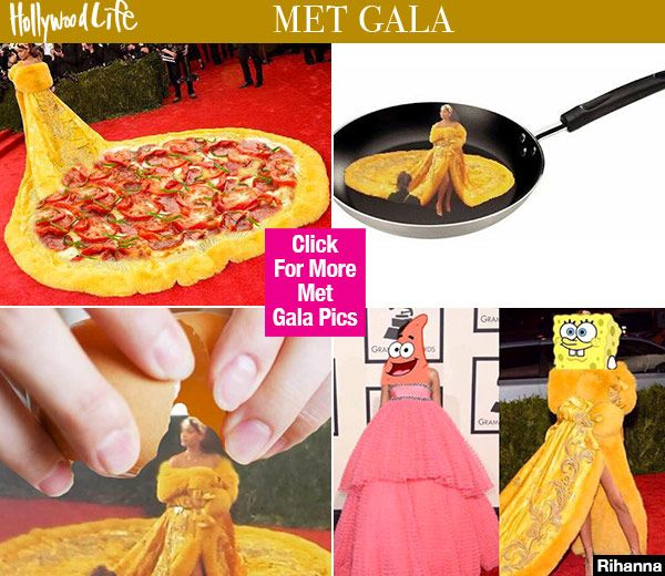 Met Gala: Rihanna's Canary Yellow Gown Inspires Hilarious ...
