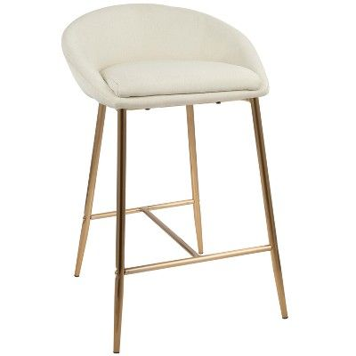 Set Of 2 Matisse Glam Counter Stool Gold Lumisource Counter