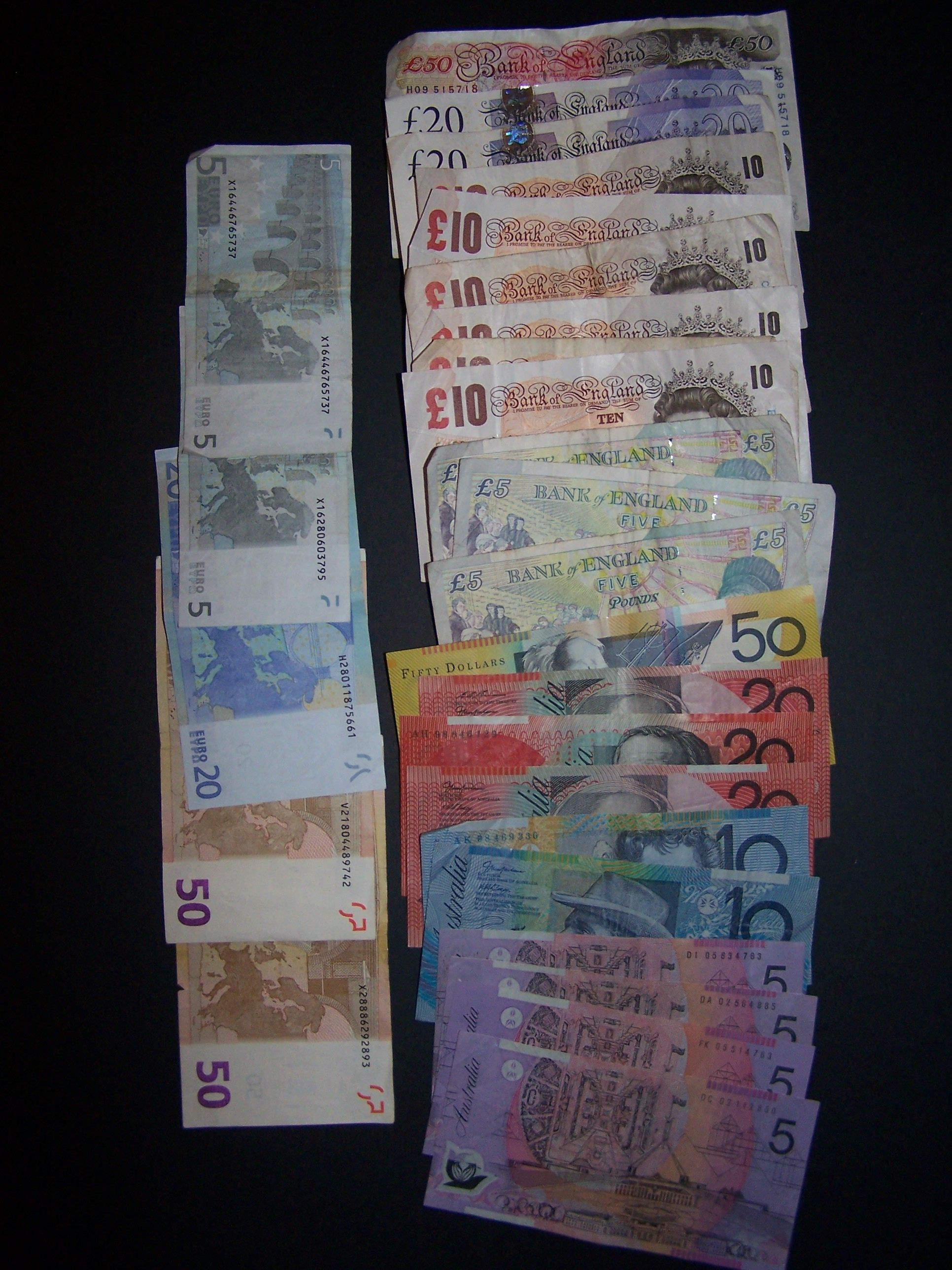 Aus Euro Gbp Aud And Eur Notes Cash My Other Pics Pinterest