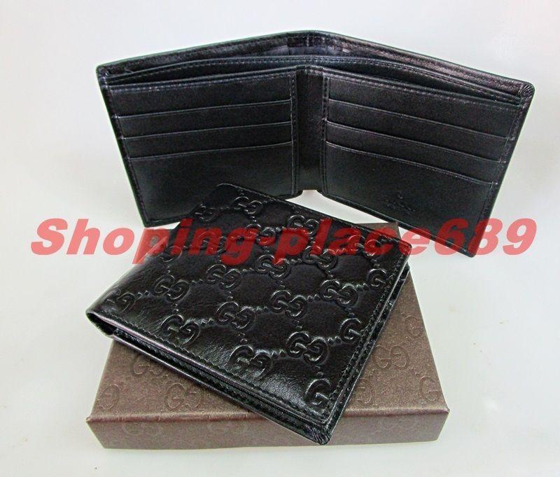 New Gucci Men's Black Teal Imprime GG Guccissima Bi-fold Wallet.(WGP00560) #Gucci #Bifold