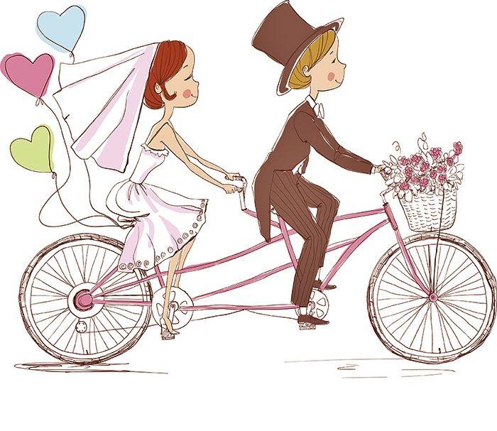 Desenho De Noivos Convite De Casamento
