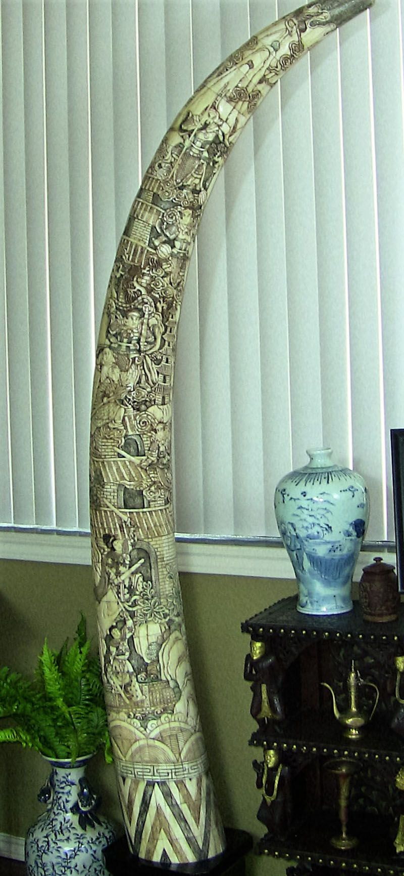 Elephant ivory carvings for sale