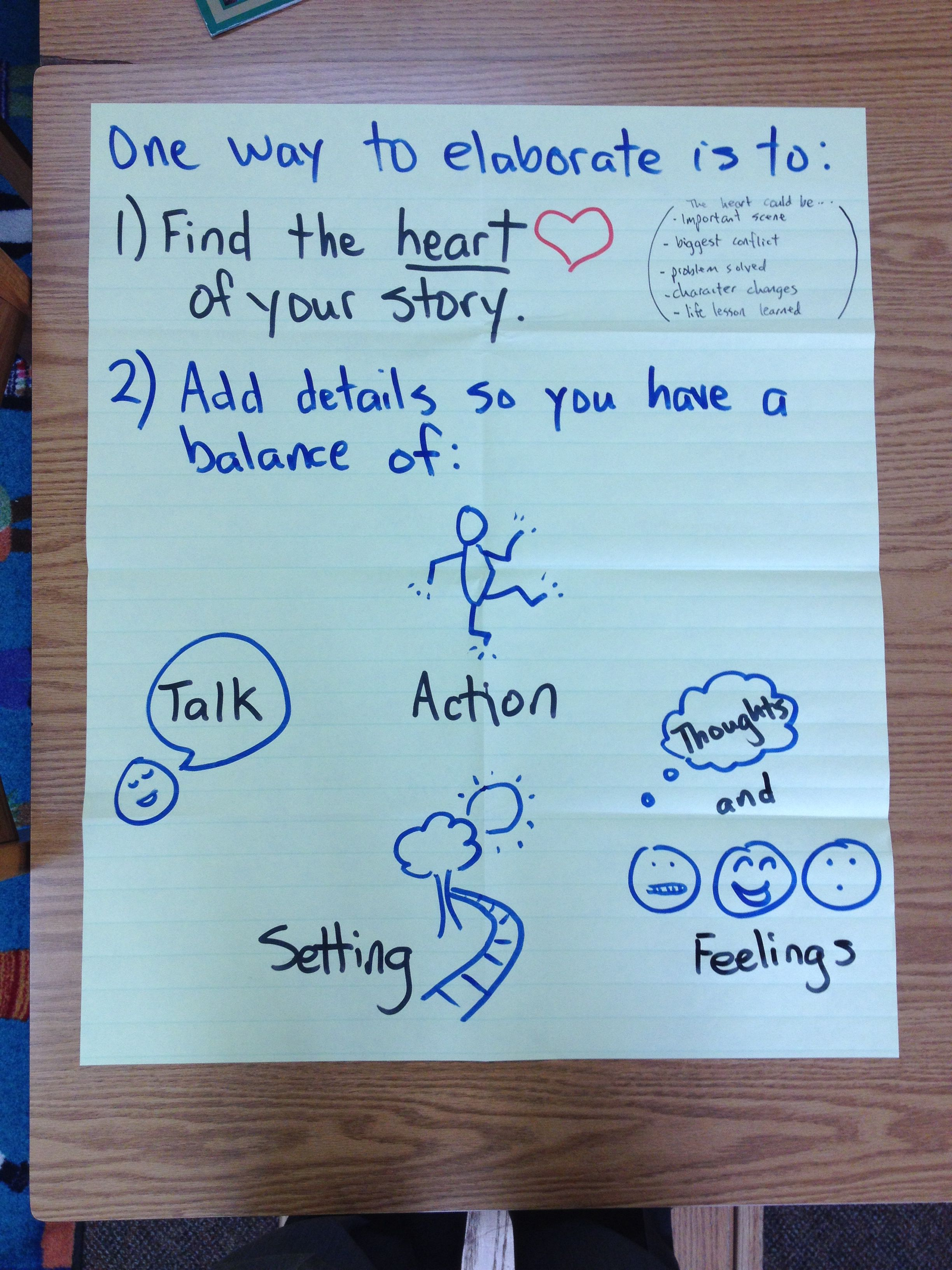 Elaborating the heart of your story | Writing Workshop