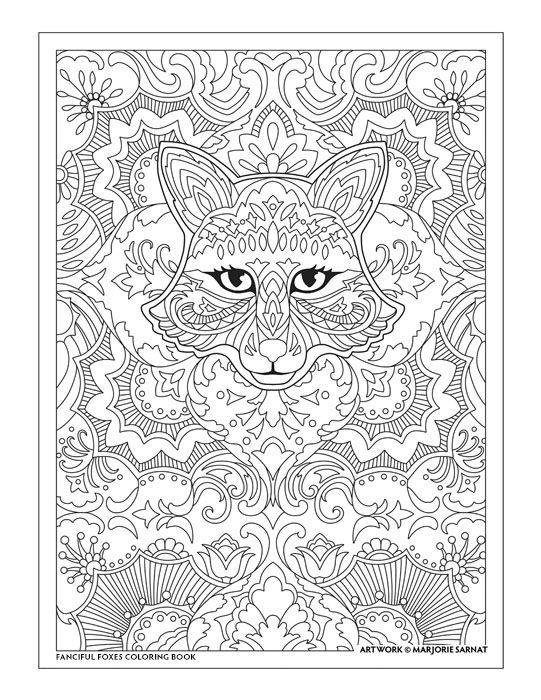 Creative Haven Fanciful Foxes Coloring Book by Marjorie Sarnat ...