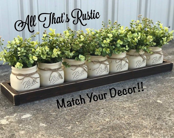 Farmhouse Table Decor, Farmhouse Decor, Succulent Centerpiece, Succulent Decor, Farmhouse Centerpiece, Greenery, Table Decor, Rustic Decor -   19 farmhouse decorations for kitchen table ideas