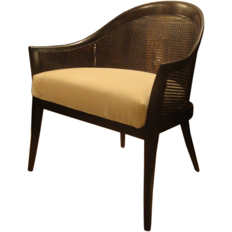 View This Item And Discover Similar Lounge Chairs For Sale At   Mahogany  And Cane Armchair By Harvey Probber. USA, Circa This Occasional Chair  Features A ...