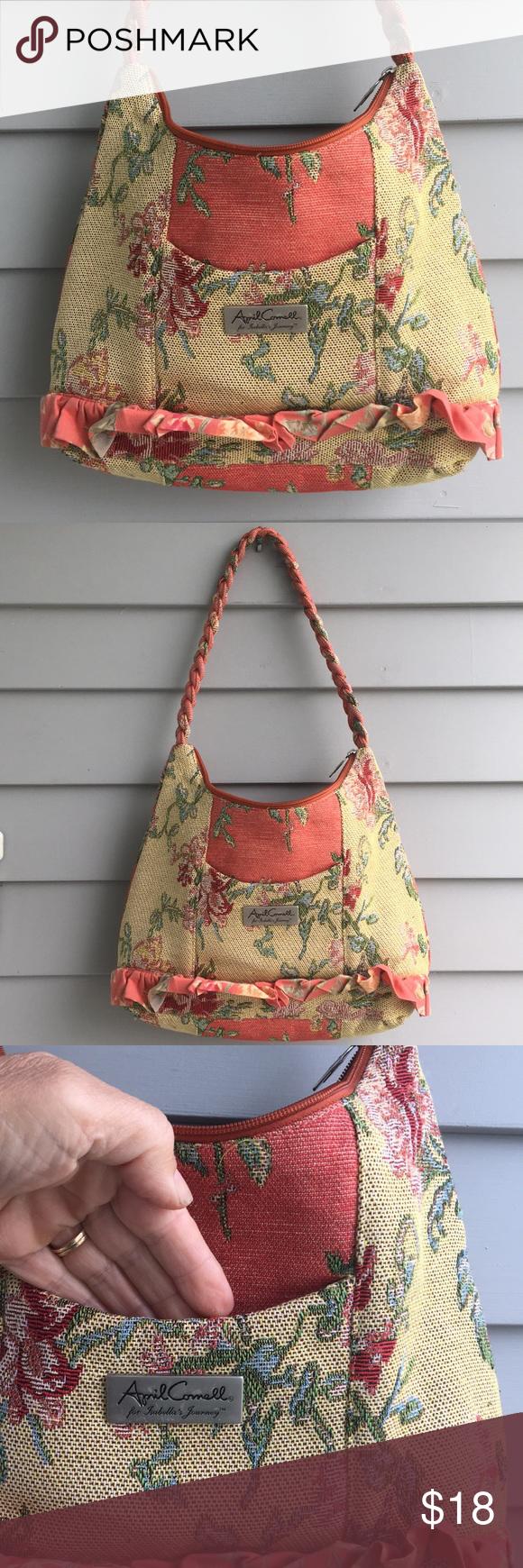 067215881a April Cornell for Isabellas journey Milner bag Lovely soft fabric ...