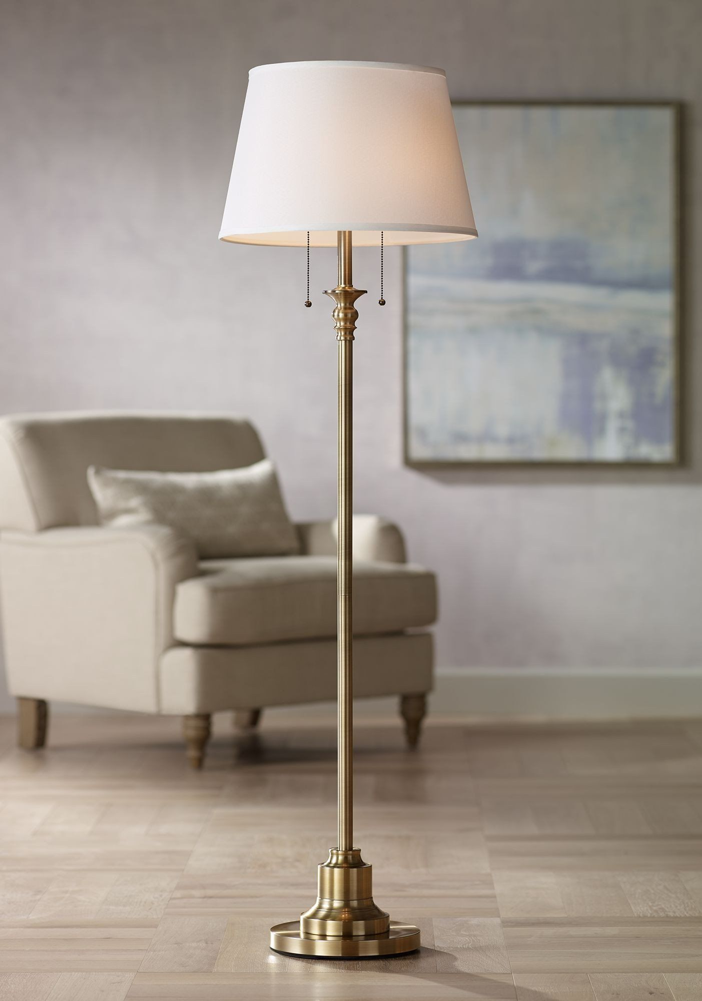 Traditional Living Room Lamps 360 Lighting Traditional Floor Lamp Brushed Antique Brass Metal In 2020 Traditional Floor Lamps Brass Floor Lamp Antique Brass Floor Lamp