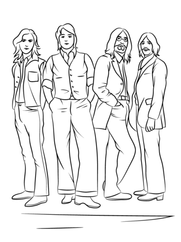 Click to see printable version of The Beatles Coloring page | Oh ...