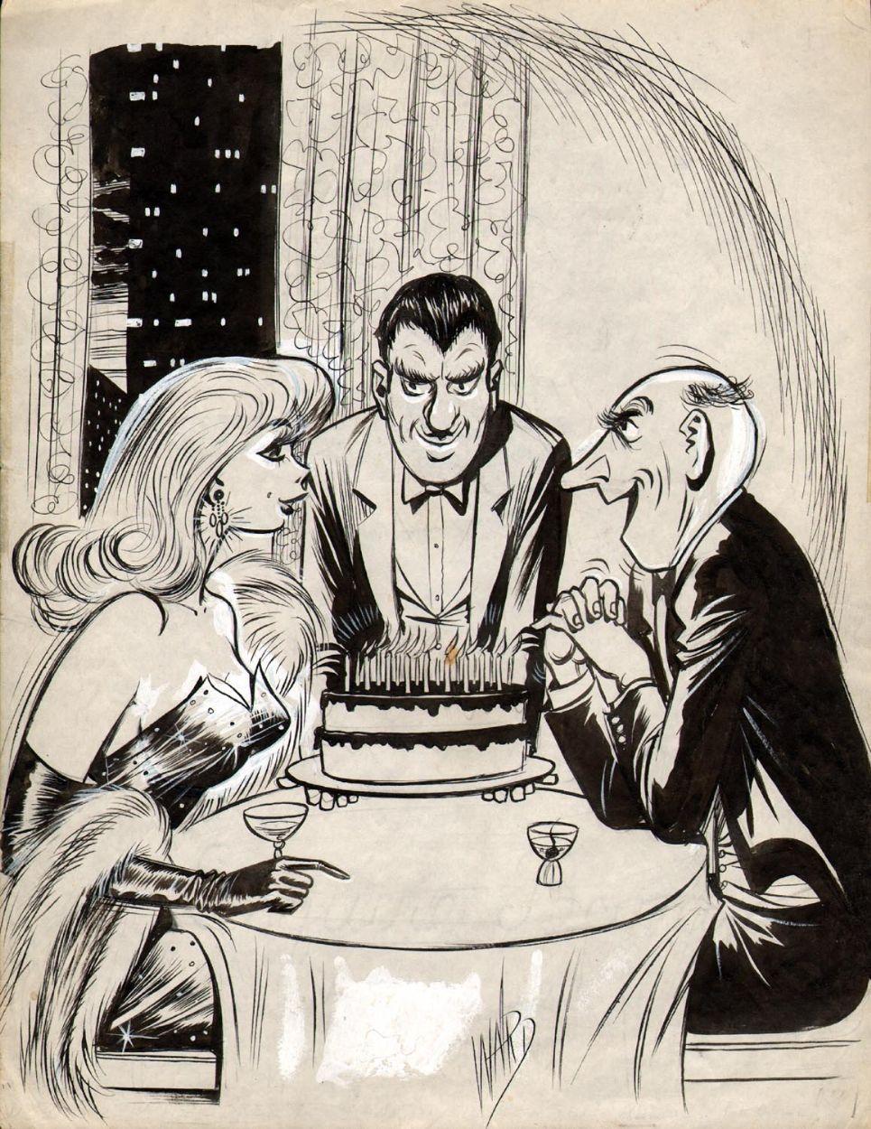 BILL WARD HUMORAMA GAG CARTOON (1969) Comic Art