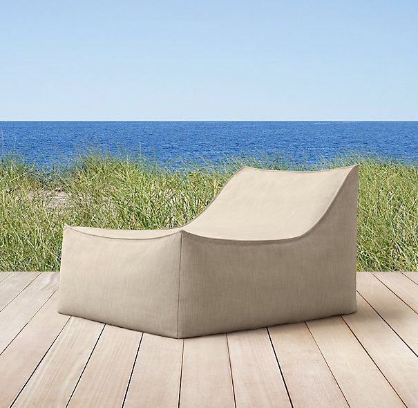RHs Ibiza Lounge ChairWeve Reinterpreted The Iconic Bean Bag Chair In An Ultra Relaxed Silhouette Perfect For Patio Or Poolside And Tailored It With