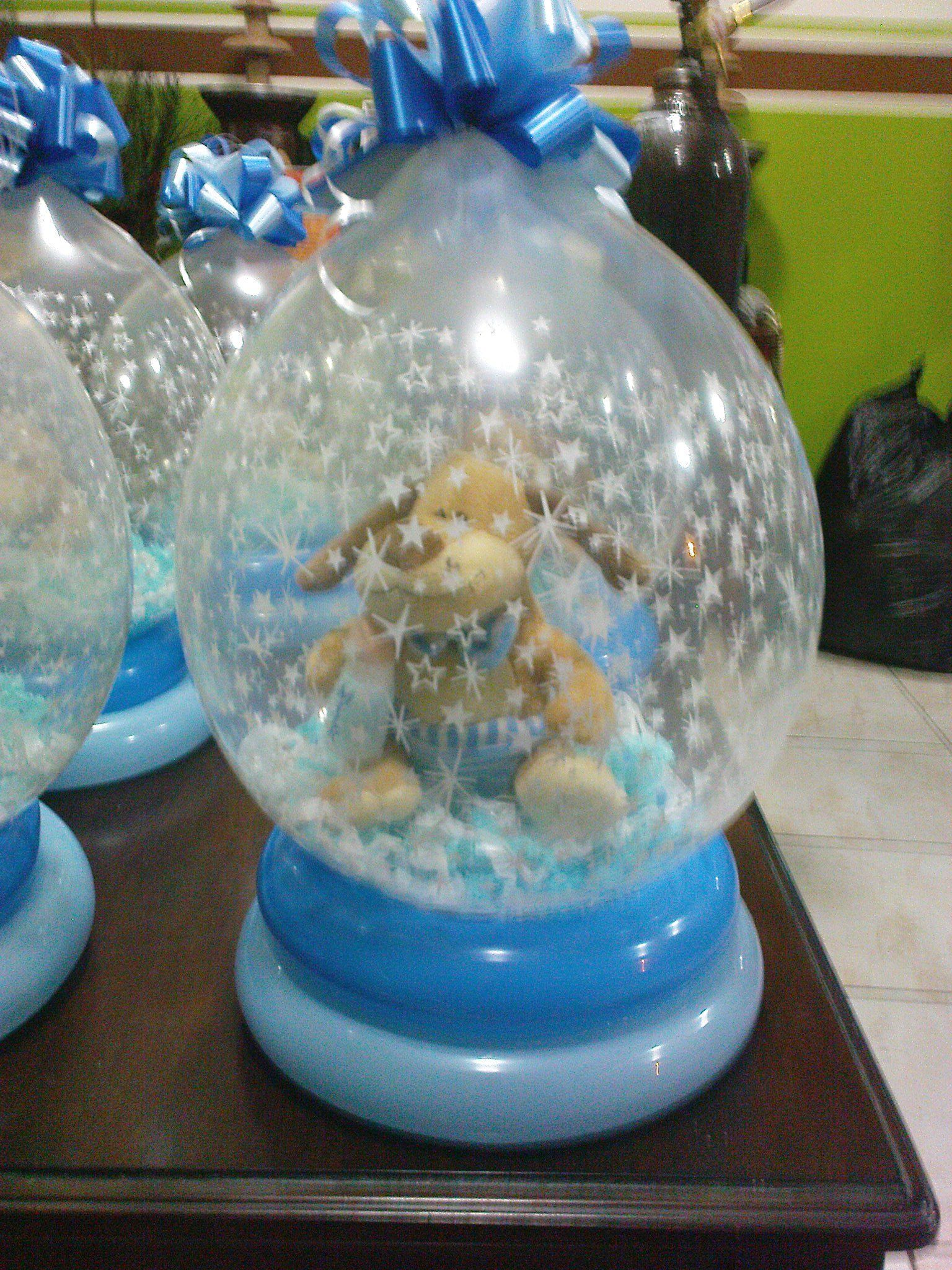 Centros de mesa para t de canastilla con globos y - Adornos centros de mesa ...