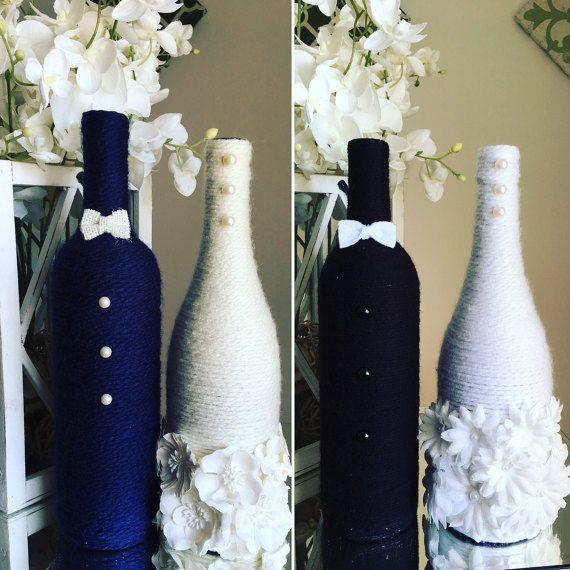 Wedding Wine Bottles: Bride And Groom Wine Bottles