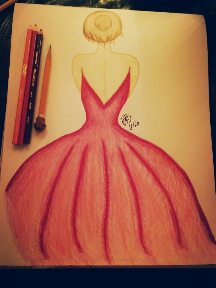 """ the dress""  Art by brittany browning"