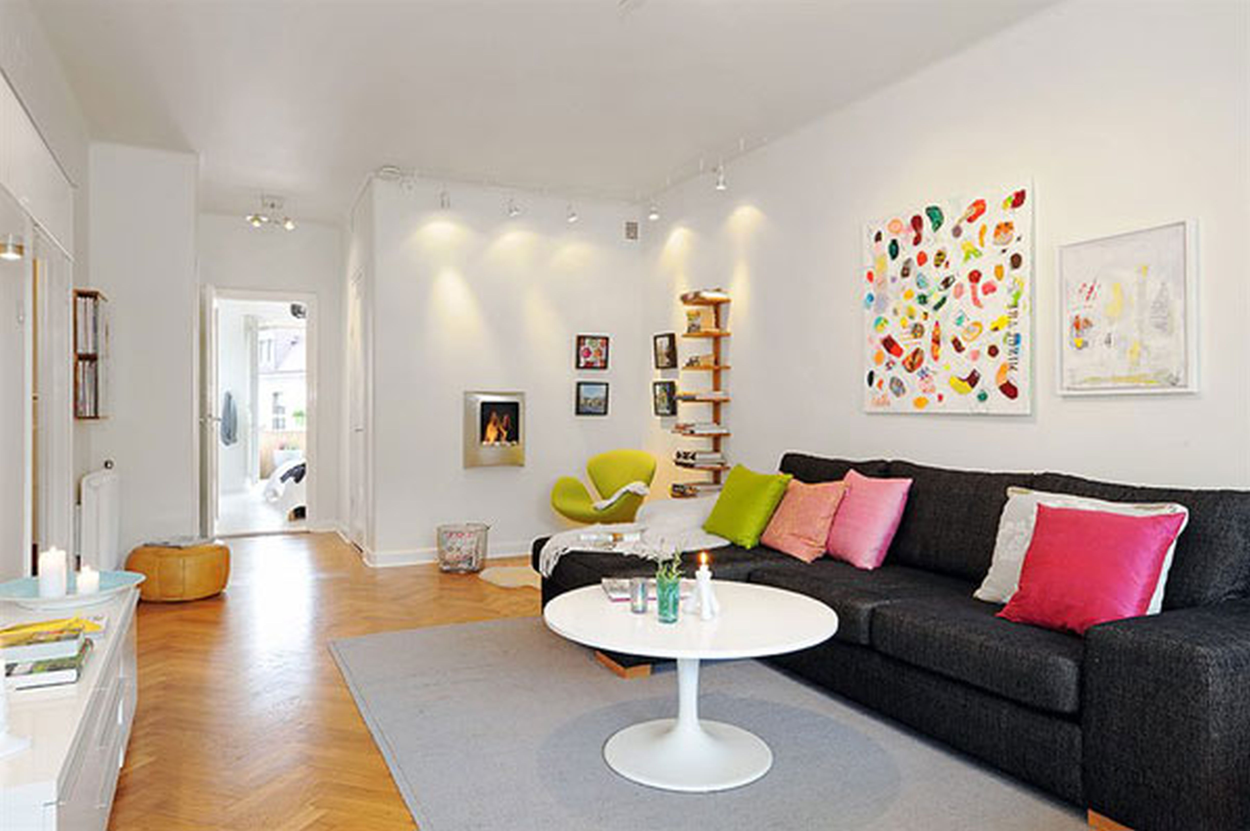 Living Room Bright Color Living Room Ideas black couch white walls google search living room ideas realistic pinterest minimalist interior couches and de
