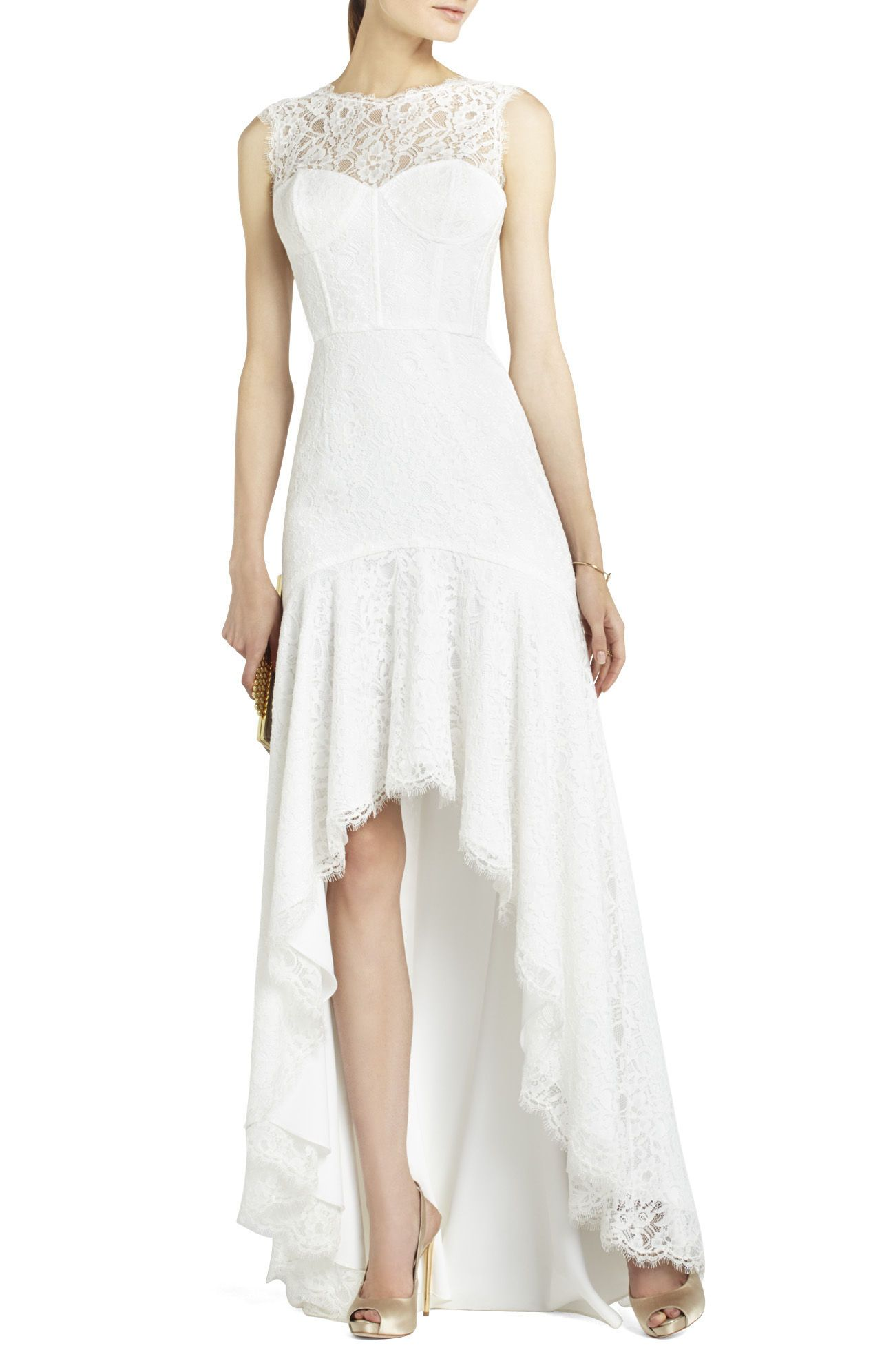 Clarissa Sleeveless Lace High Low Gown Bcbg 598 Bcbg Evening Dress High Low Gown Bcbg Dresses [ 1992 x 1268 Pixel ]