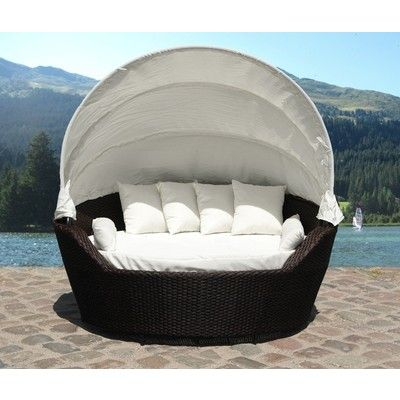 Looking At U0027Velago Resin Wicker Canopy Daybed Modern Patio Furniture    SOGNOu0027 On SHOP