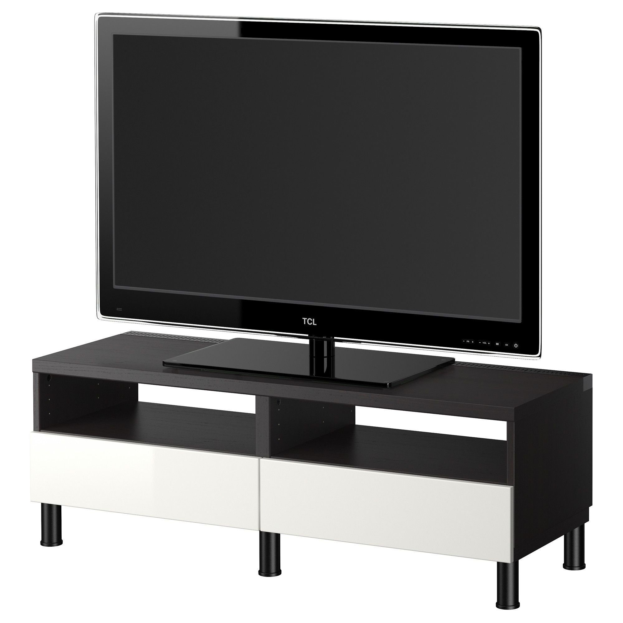 BestÅ Tv Bench With Drawers Black Brown High Gloss White Ikea
