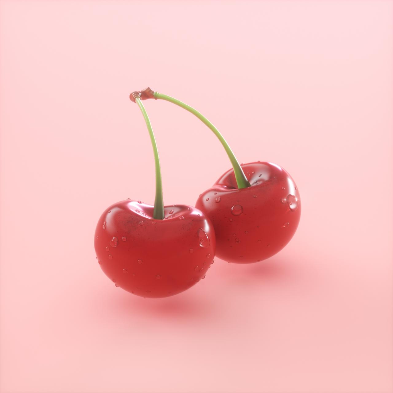 Red Cherry Aesthetic Wallpaper