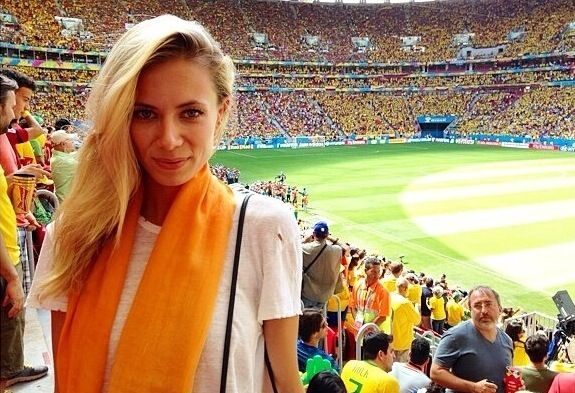 Elizabeth in Brazil for the World Cup! #ColourtheWorld