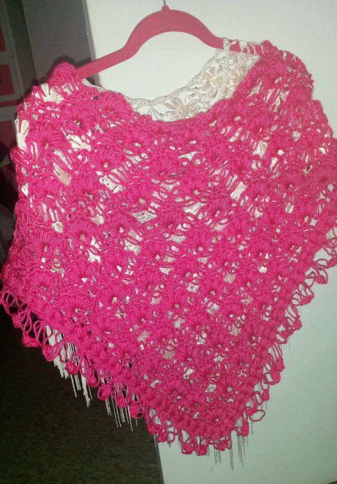 Chal Rosa (punto hinchado y salomón parte 1) | Crochet Video ...