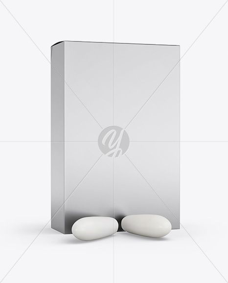 Metallic Box With Suppositories Mockup In Box Mockups On
