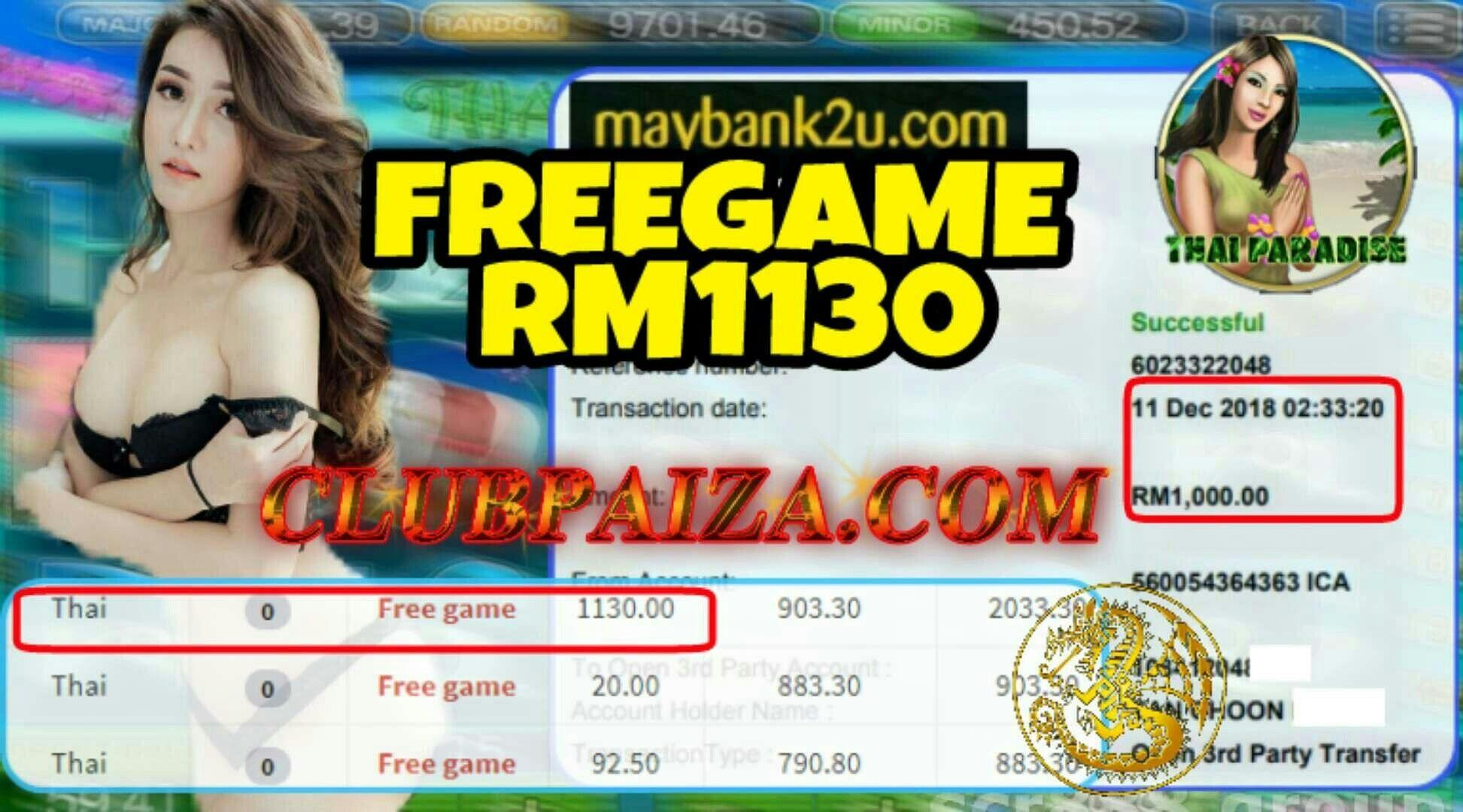918 KISS ❗THAI PARADISE❗ FREEGAME NONSTOP WITHDRAWAL RM1000