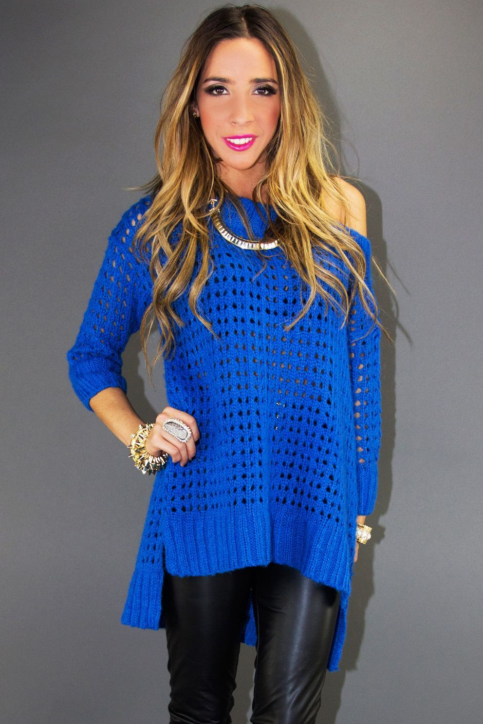 OVERSIZED SWEATER - Electric Royal Blue $60.00 | Cozy Sweaters ...