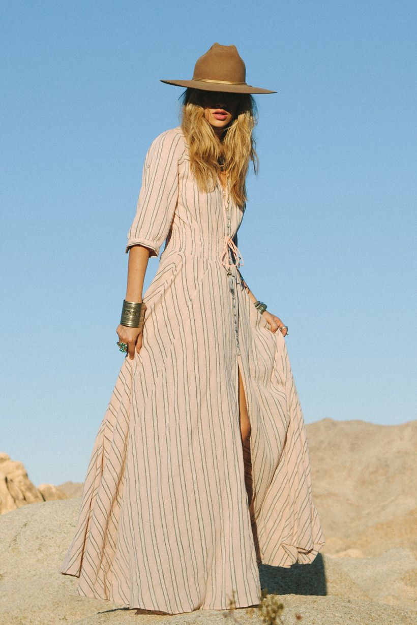 Pre sale island boho gown coral u spell u the gypsy collective