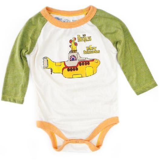 The Beatles Onesie Baby Creeper Vintage Rowdy Sprout The Beatles