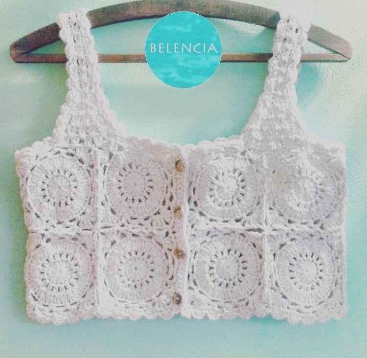 Crochet tank top   Bikini & Crop   Pinterest   Blusas, Tejido y ...