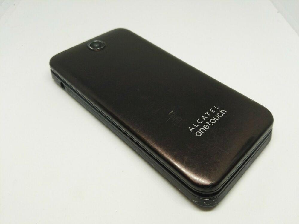 ALCATEL 2012G BROWN FLIP MOBILE PHONE AS A PARTS REPAIRS